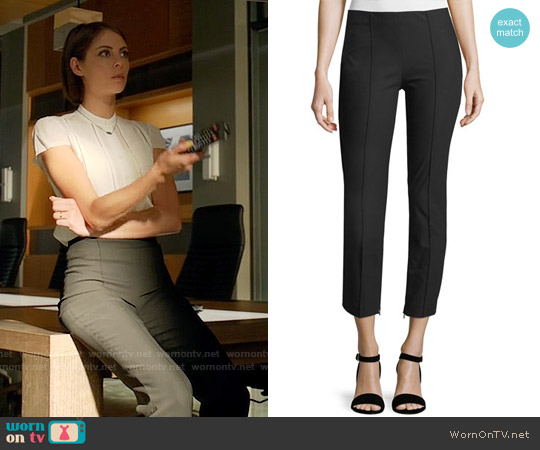 Theory Alettah Pants worn by Willa Holland on Arrow