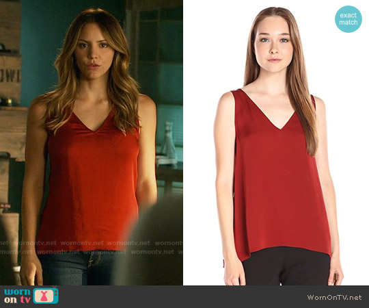 Theory 'Narcyz' in Red Oak worn by Katharine McPhee on Scorpion