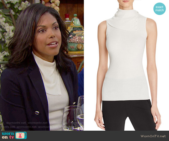 Theory Leendelle Top worn by Karla Mosley on The Bold & the Beautiful