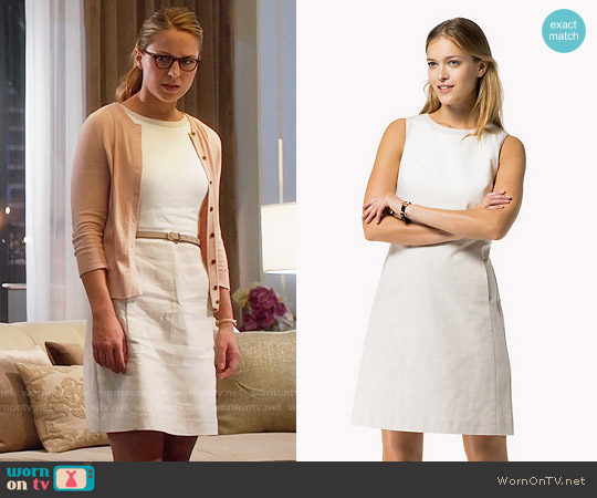 Tommy Hilfiger Cotton Linen Dress worn by Melissa Benoist on Supergirl