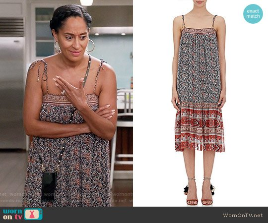 Ulla Johnson Imane Midi Dress worn by Tracee Ellis Ross on Blackish