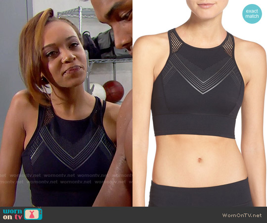 Under Armour 'Luminous' Racerback Crop Top worn by Reign Edwards on The Bold & the Beautiful