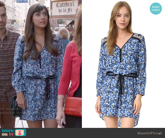 Veronica Beard Venice Dress worn by Hannah Simone on New Girl