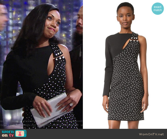 Versus One Shoulder Dress worn by Mishael Morgan on The Young & the Restless