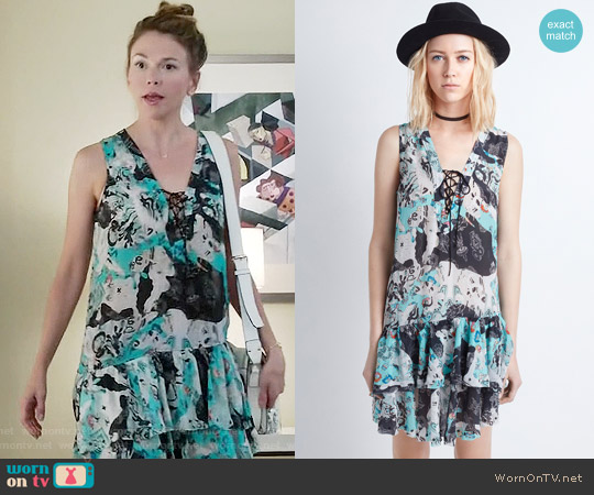 Zadig & Voltaire 'Rory' Print Dress worn by Sutton Foster on Younger