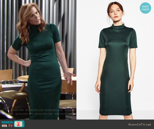 Zara Fitted Mid Length Dress worn by Phyllis Newman (Gina Tognoni) on The Young & the Restless
