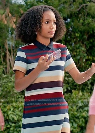 Zoey's striped collared dress on Black-ish