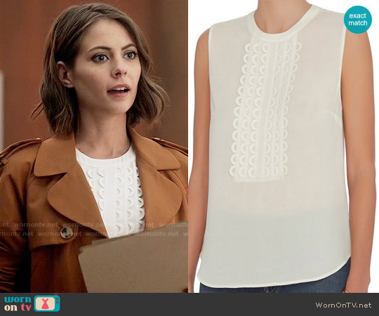 ALC Silvia Top worn by Thea Queen on The Flash