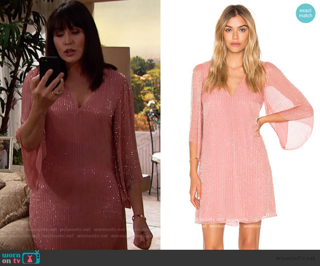 Alice & Olivia Tammin Dress worn by Quinn Fuller (Rena Sofer) on The Bold & the Beautiful