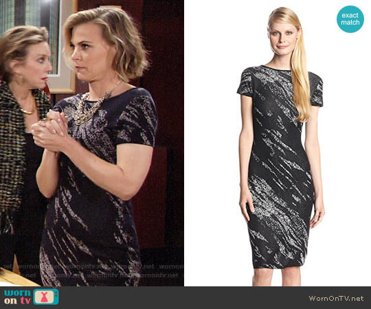 Bcbgmaxazria Jackee Dress worn by Gina Tognoni on The Young & the Restless