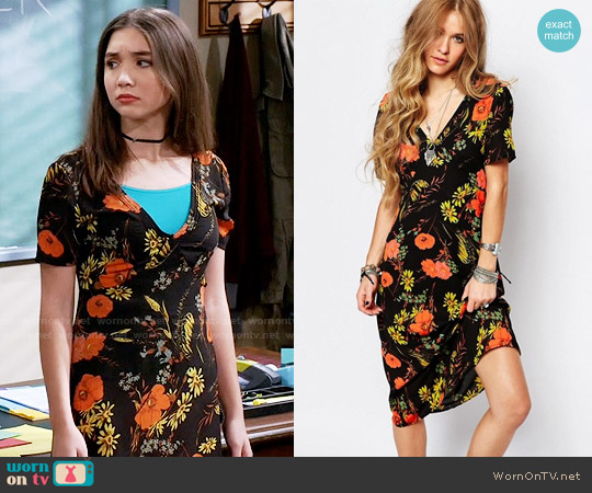 Glamorous Poppy Tea Dress worn by Rowan Blanchard on Girl Meets World