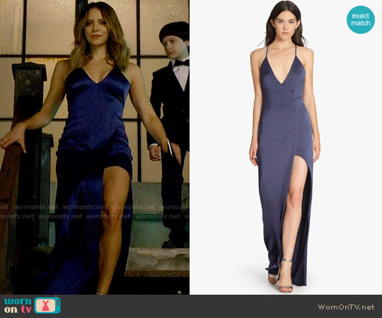 Halston Heritage Satin Slip Gown worn by Katharine McPhee on Scorpion