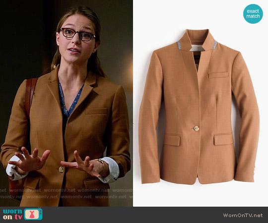 J. Crew 'Regent' Blazer in Warm Camel worn by Melissa Benoist on Supergirl
