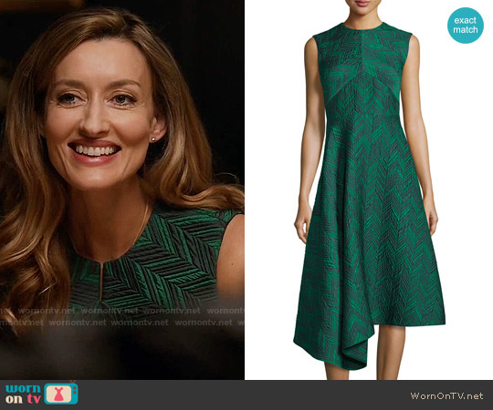 Jason Wu Sleeveless Herringbone Cocktail Dress worn by Natascha McElhone on Designated Survivor