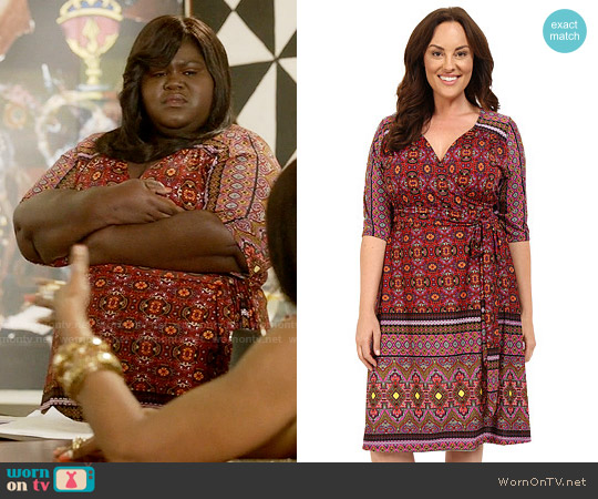 Kiyonna Beguiling Border Print Dress worn by Gabourey Sidibe on Empire