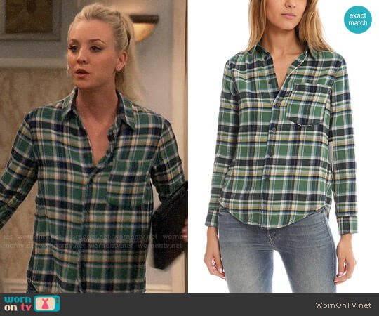Mother Breezy Foxy Button Down worn by Penny (Kaley Cuoco) on The Big Bang Theory
