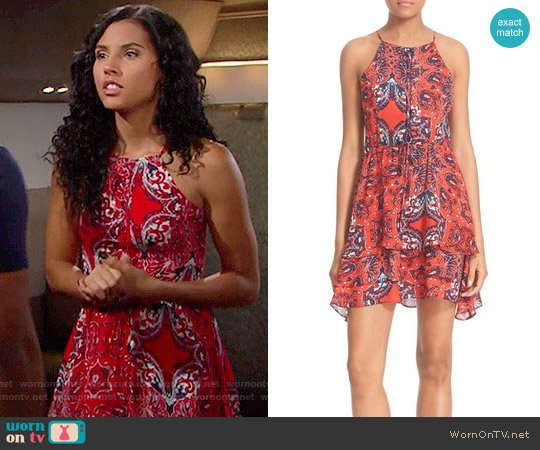 Parker Dax Dress in Flare Bandana worn by Felisha Cooper on The Bold & the Beautiful