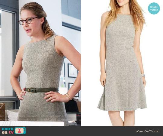 LAUREN Ralph Lauren Tweed Fit and Flare Dress worn by Melissa Benoist on Supergirl