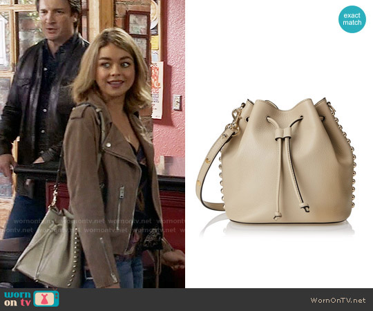 Rebecca Minkoff Unlined Bucked Shoulder Bag worn by Sarah Hyland on Modern Family