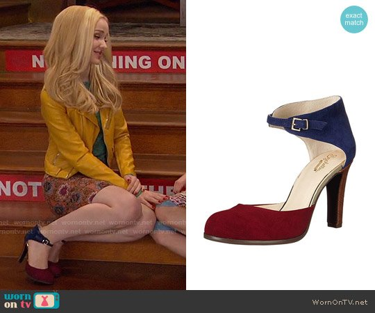 Seychelles Hopeful Heel in Oxblood/Navy worn by Dove Cameron on Liv & Maddie