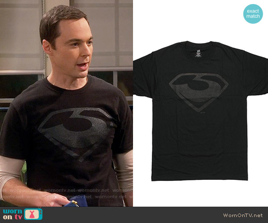 Superman Man of Steel Zod Logo T-Shirt worn by Jim Parsons on The Big Bang Theory