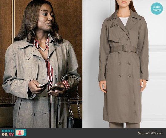 Tomas Maier Wool Gabardine Trench Coat worn by Patina Miller on Madam Secretary