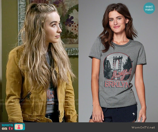 Abercrombie Vintage Graphic Tee worn by Maya Hart on Girl Meets World