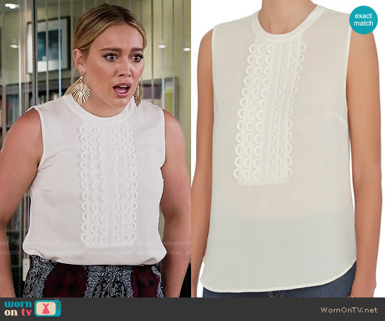 ALC Silvia Top worn by Kelsey Peters (Hilary Duff) on Younger
