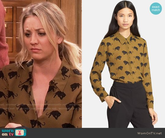 ALC Song Blouse worn by Kaley Cuoco on The Big Bang Theory