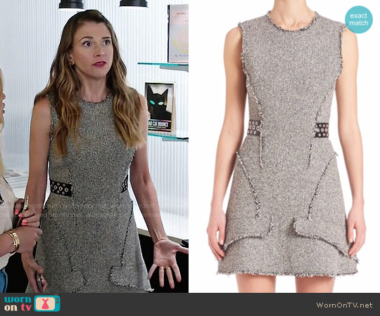 Alexander Wang Grommet-Belt Peplum Dress worn by Sutton Foster on Younger