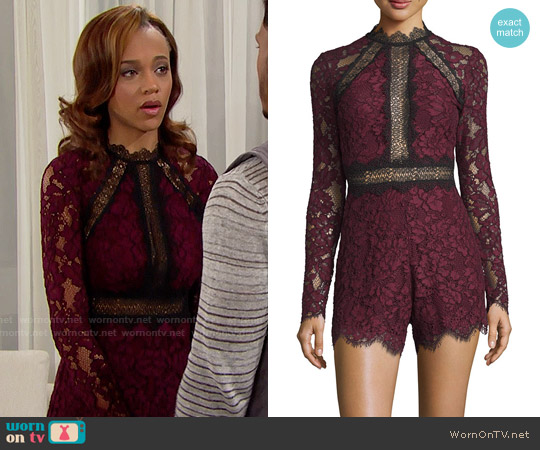 Alexis Eva Romper worn by Reign Edwards on The Bold & the Beautiful