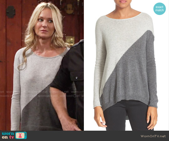 Alice & Olivia Abbie Sweater worn by Sharon Case on The Young & the Restless