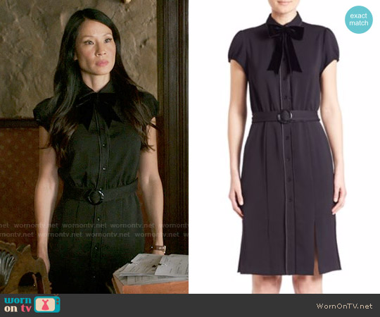 Alice & Olivia Carie Dress worn by Lucy Liu on Elementary