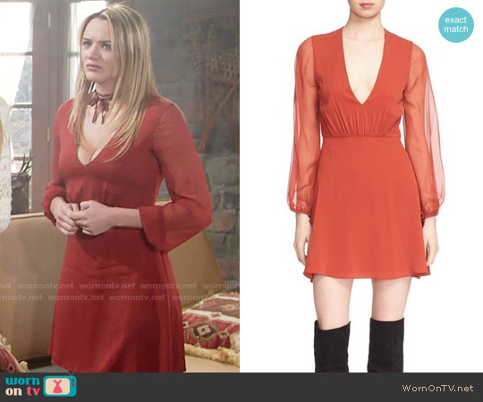 Alice & Olivia Cary Dress worn by Hunter King on The Young & the Restless