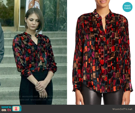 Alice & Olivia 'Eloise' Blouse worn by Willa Holland on Arrow