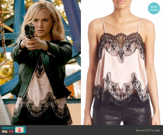 Alice + Olivia Sondra  Top worn by Caroline Forbes (Candice Accola) on The Vampire Diaries