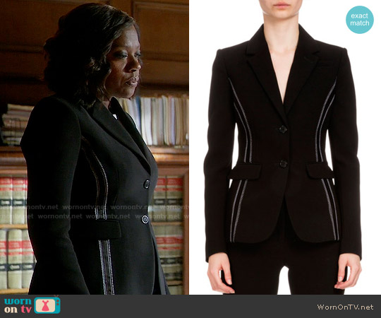 Altuzarra Fenice Jacket worn by Annalise Keating (Viola Davis) on HTGAWM