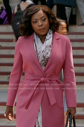 Annalise's pink coat on How to Get Away with Murder