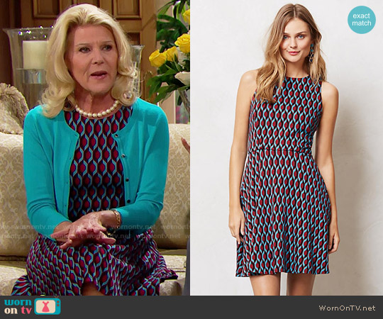 Anthropologie Azlyn Dress worn by Pamela Douglas (Alley Mills) on The Bold & the Beautiful