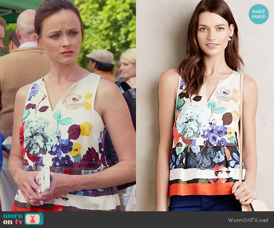 Anthropologie Elsie Tank worn by Alexis Bledel on Gilmore Girls