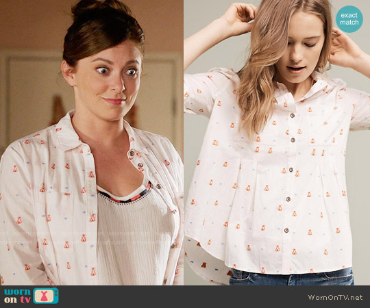 Anthropologie Miette Buttondown worn by Rebecca Bunch on Crazy Ex-Girlfriend