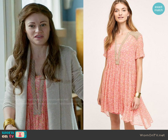 Anthropologie Morning Glory Swing Dress worn by Emilie de Ravin on OUAT