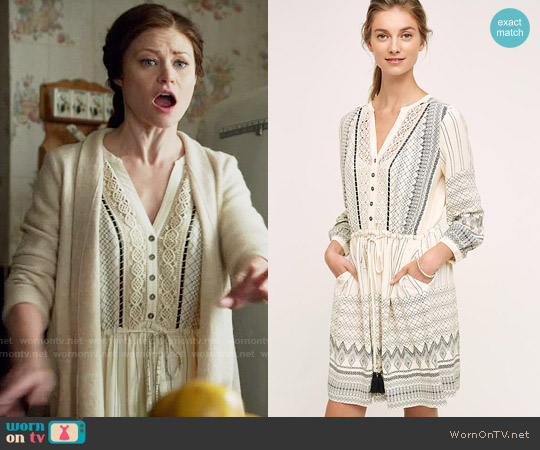 Anthropologie Perrie Lace Dress worn by Emilie de Ravin on OUAT