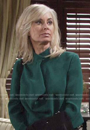 Ashley's green blouse on The Young and the Restless