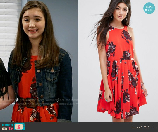 Free People Flutterby Dress worn by Riley Matthews (Rowan Blanchard) on Girl Meets World