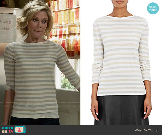 Barneys New York Striped Cashmere Sweater worn by Julie Bowen on Modern Family