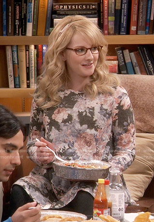 Bernadette's floral maternity tunic on The Big Bang Theory