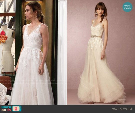 BHLDN Reagan Gown worn by Amelia Heinle on The Young & the Restless