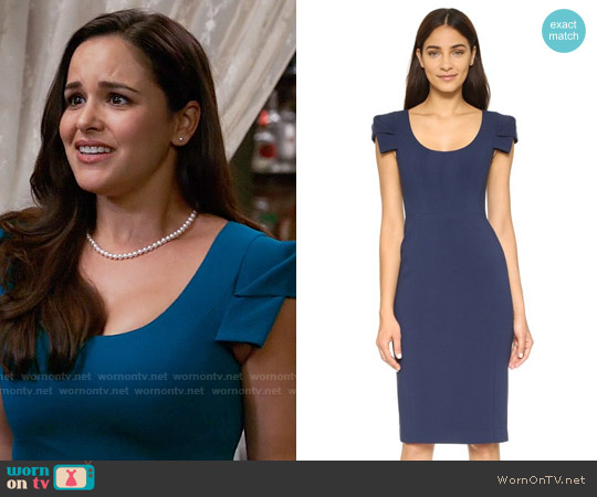 Black Halo Amelie Dress worn by Melissa Fumero on Brooklyn Nine-Nine