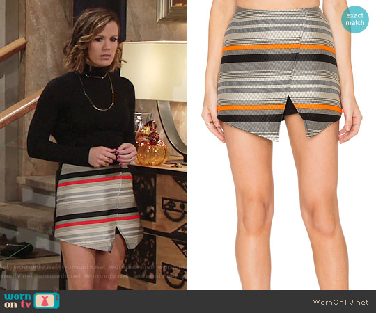Blaque Label Stripe Wrap Skort worn by Chelsea Lawson (Melissa Claire Egan) on The Young & the Restless